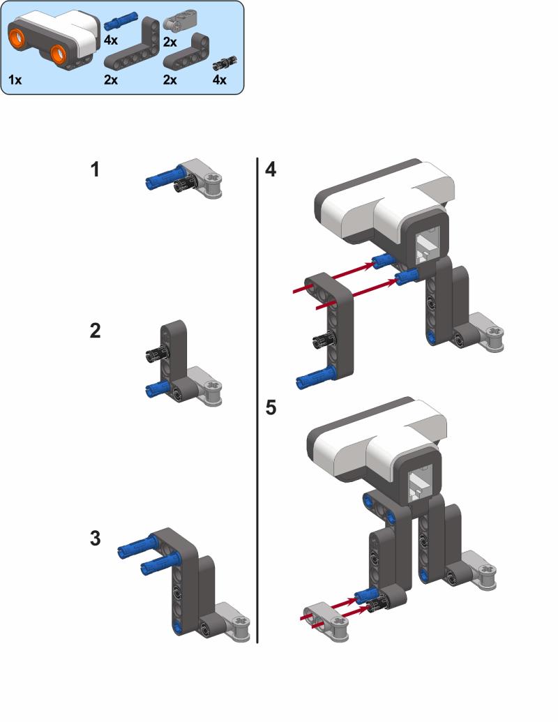 hitechnic color sensor block