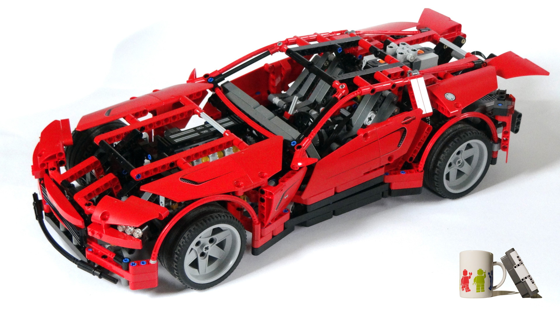 lego technic 2 in 1 super red sports car 8070 rare bnisb free gift ebay. Black Bedroom Furniture Sets. Home Design Ideas