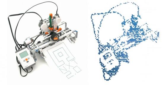 Printerception: NXT Printer prints self portrait – Robotsquare